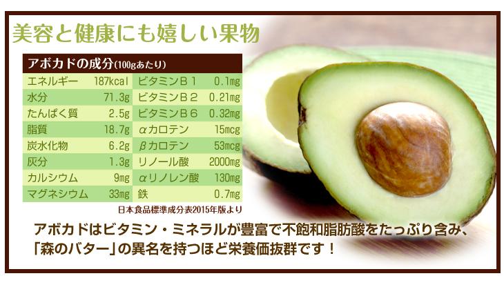 アボカド 苗木 栄養価