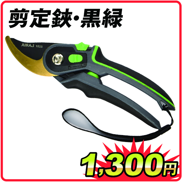 剪定鋏・黒緑