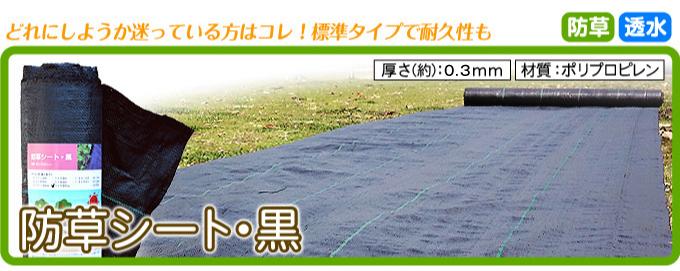 防草シート・黒