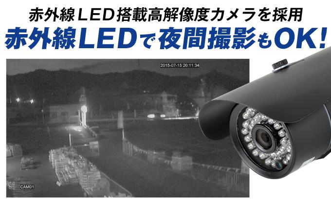 高精細200万画素防犯カメラ・4台セット11