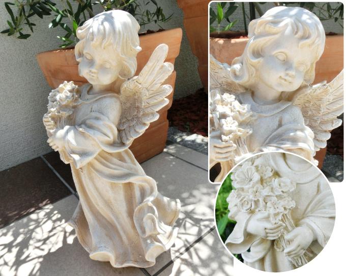 ポリ_花束を抱えた天使