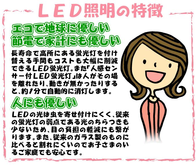 人感センサー付LED蛍光灯60cm