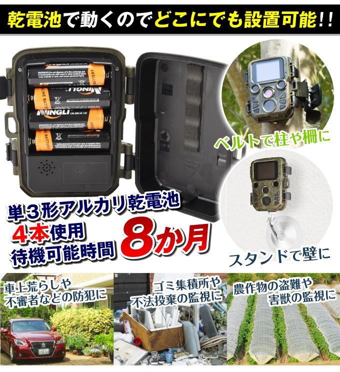 トレイルカメラミニ・乾電池