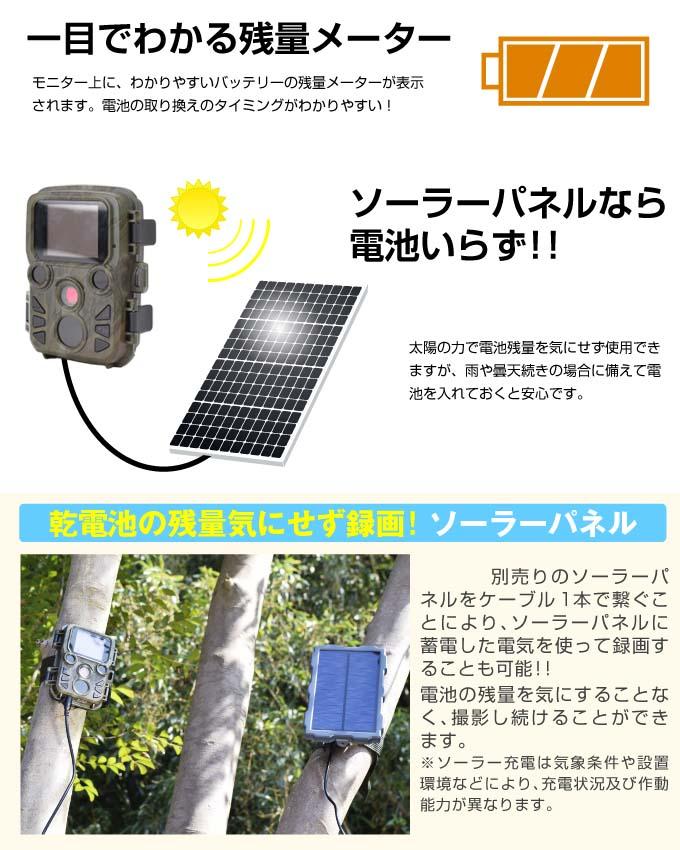 トレイルカメラミニ・ソーラーパネル