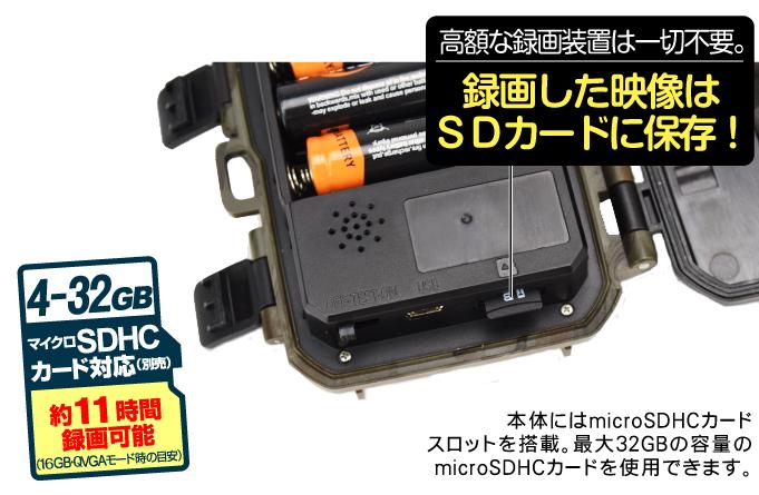 トレイルカメラミニ・SDカード