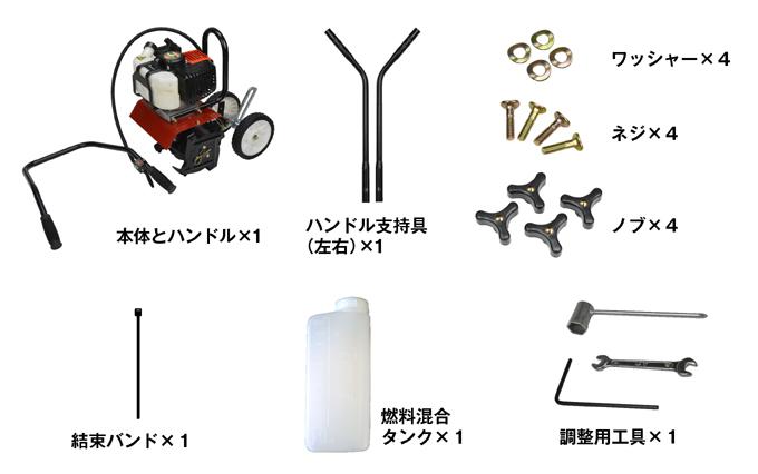 エンジン式耕耘機セット内容