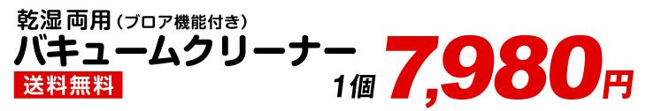 バキュームクリーナー・7980円