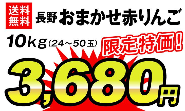 おまかせ赤りんご・3680円